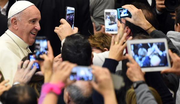 Papst Franziskus bei seinem USA-Besuch. Foto : Twitter/Fortune